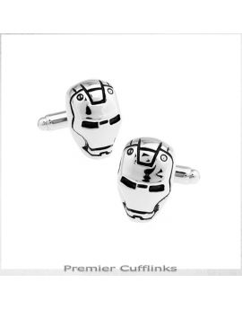 Silver Iron Man Cufflinks