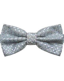 Silver with Pinwheel Texture Bow Tie