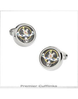 Silver Steampunk Cufflinks