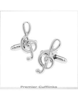 Silver Treble Clef Cufflinks