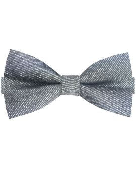 Sparkly Silver Bow Tie