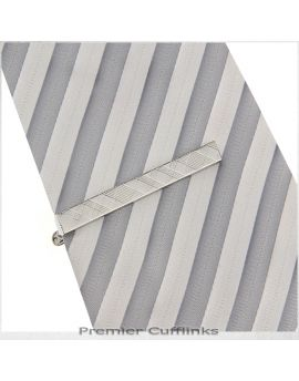 Tartan Check Pattern Tie Clip