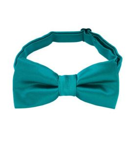boy's teal green bow tie