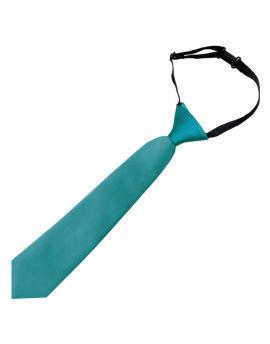 Teal Junior Boys Elasticated Tie