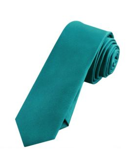 Mens Teal Green Skinny Tie