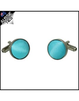 Mens Turquoise Aqua Blue Cufflinks