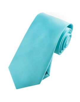 Mens Turquoise Aqua Tiffany Blue 7cm Slim Tie