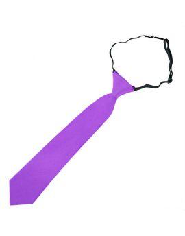 Violet Purple Junior Boys Elasticated Tie