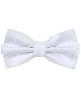 white paisley bow tie