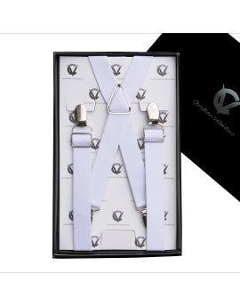 Men's White X2.5cm Large Braces