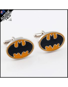 Mens Yellow and Black Batman Cufflinks