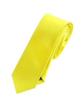 Mens Daffodil Canary Yellow Skinny Tie