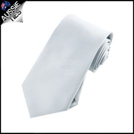 Boys Light Silver Grey Necktie