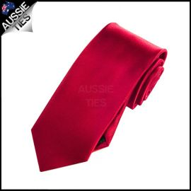 Boys Scarlet Red Plain Necktie