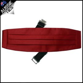 Mens Scarlet Red Cummerbund