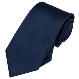 Mens Dark Midnight Blue Necktie