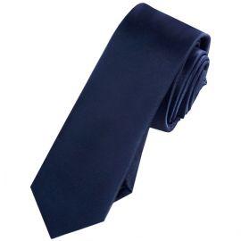 Mens Midnight Blue Skinny Tie