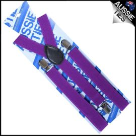 Plum Grape Purple Braces Suspenders