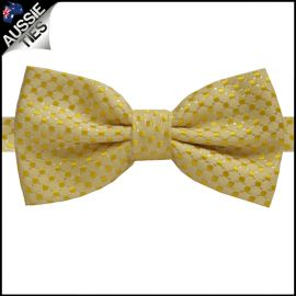 Yellow 3D Check Bow Tie