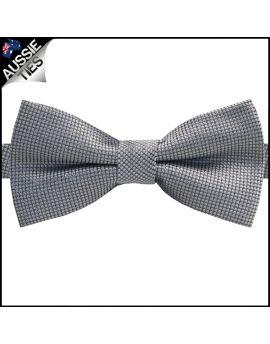 Black & Silver Micro Checks Bow Tie