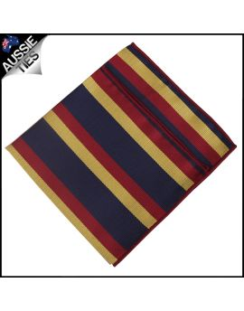 Navy with Red & Yellow Stripes Pocket Square