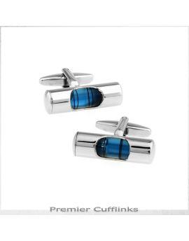Blue Spirit Level Cufflinks