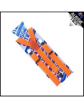 Boys Fluoro Orange Braces Suspenders