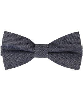Charcoal Dark Grey Cotton Mens Bow Tie