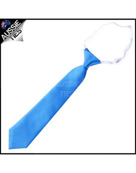 Cobalt Blue Junior Boys Elasticated Necktie