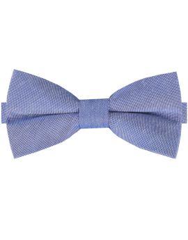 Denim Blue Cotton Mens Bow Tie