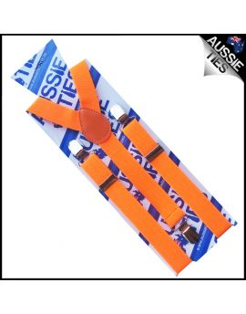 Fluoro Orange Braces Suspenders