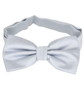 Light Silver Grey Bow Tie