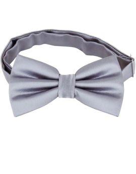 Mid Silver Grey Bow Tie