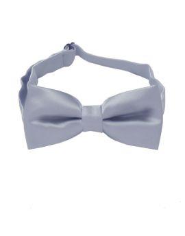 Mid Silver Boys Bow Tie