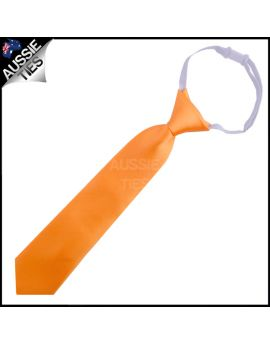 Orange Junior Boys Elasticated Necktie
