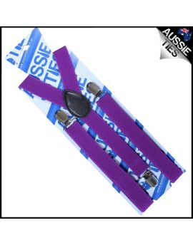 Plum Grape Purple Braces Suspenders