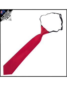Scarlet Red Junior Boys Elasticated Necktie