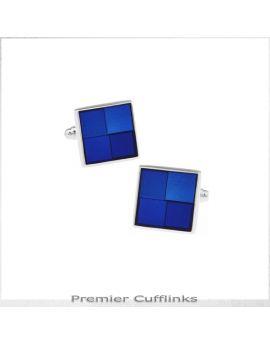 Shades of Blue Squares Cufflinks