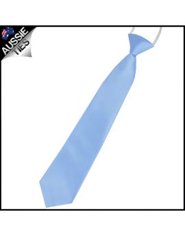 Baby Sky Blue Junior Boys Elasticated Necktie