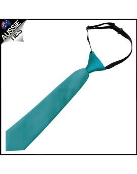 Teal Junior Boys Elasticated Necktie